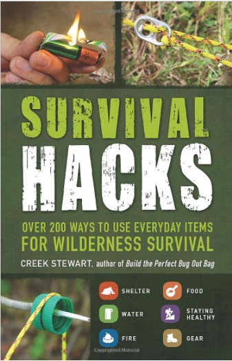 A book on survival hacks for the adventurous.