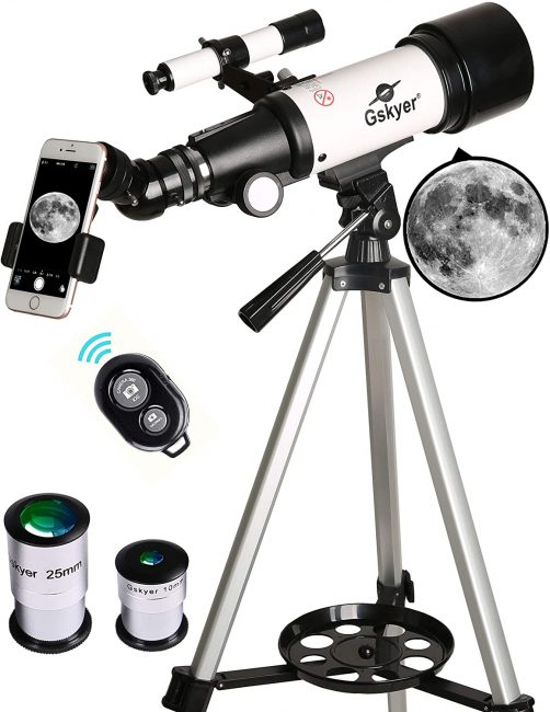A telescope is a great camping gift for the whole family.