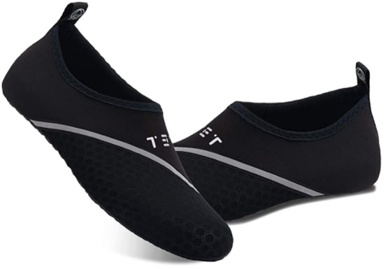 Water shoes can be used for activities like kayaking, paddle boarding and walks on the beach.