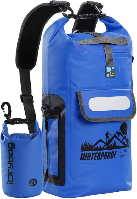 A waterproof backpack is a great item to have with you for adventures.