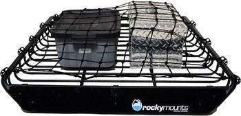 The 14'r Cargo Basket by RockyMounts is great for carrying your favourite outdoor gear brands.