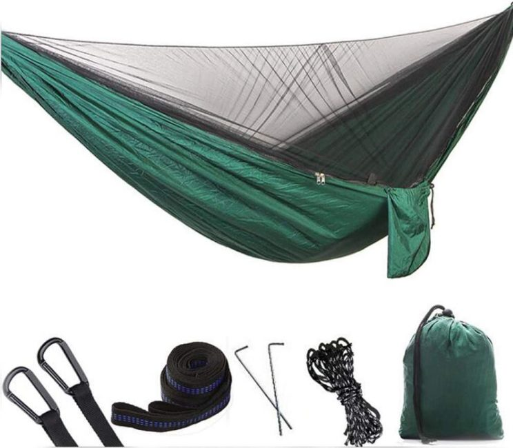 Hikant Camping Hammock in Green with Mosquito net
