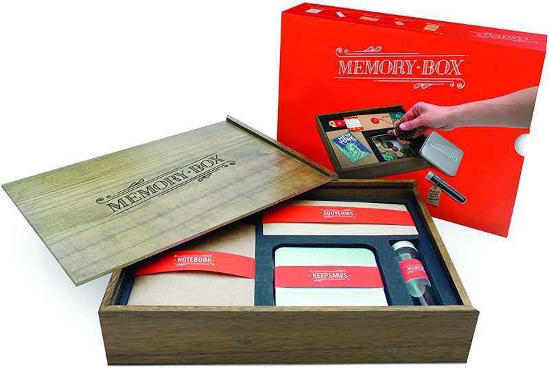 Luckies of London Memory Box for Keepsakes has several compartments for easy storage.