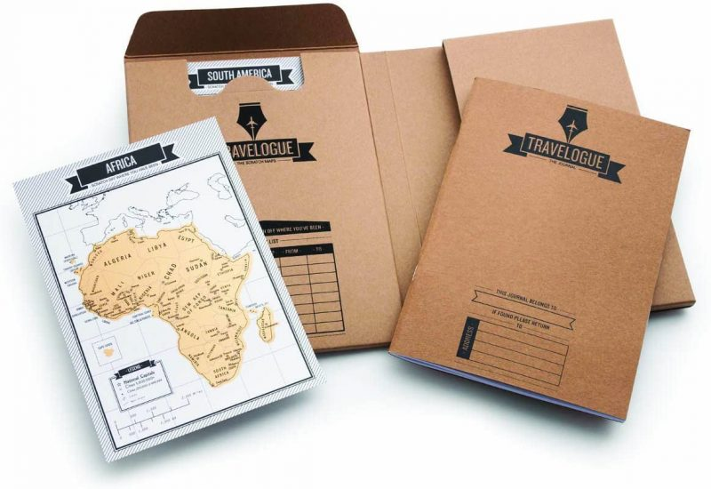 Original travel Journal with scratch cards