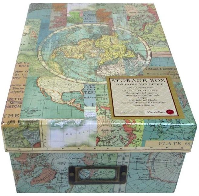 Punch Studio Photo Box World Atlas - perfect for keeping your travel memories