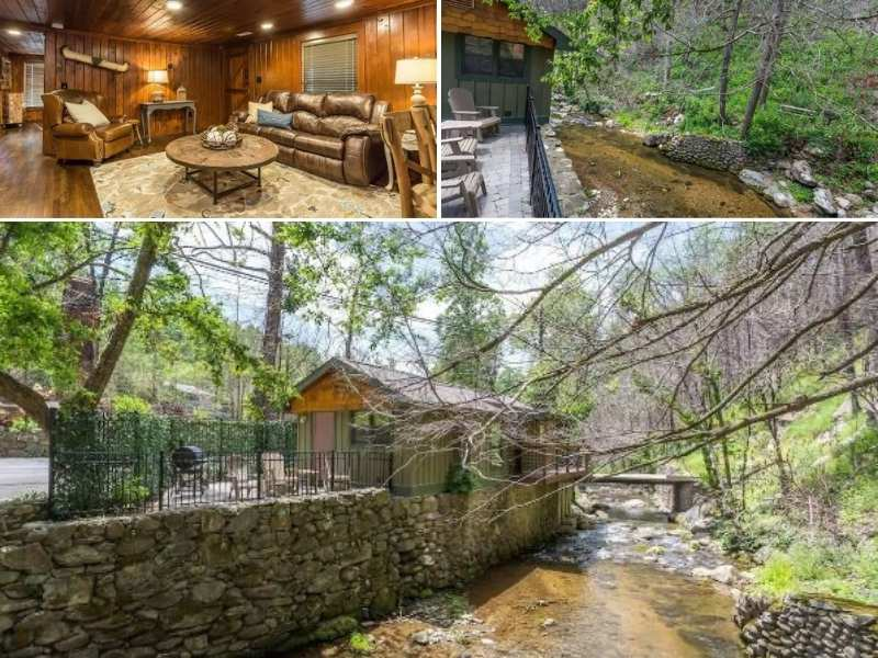 The Waterfront Airbnb in Gatlinburg Tennessee is the perfect mountain retreat.