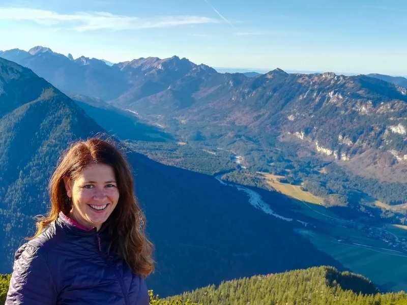 Hiker Laurel Robbins in the Ammergau Alps of Bavaria