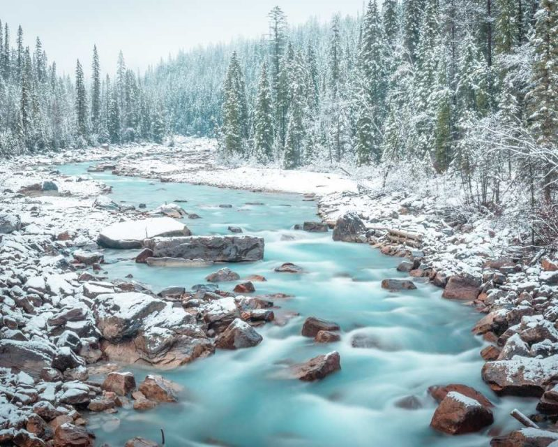 Yoho National Park is beautiful during winter
