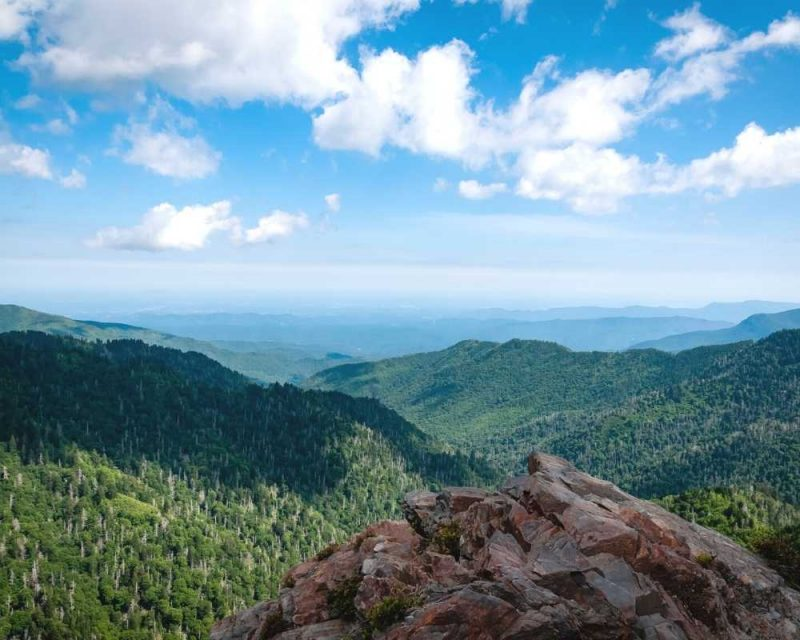 Charlies Bunion is part of the Appalachian Trail and offers amazing views.