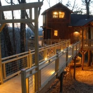 The Canopy Blue is a luxury treehouse rental in Georgia