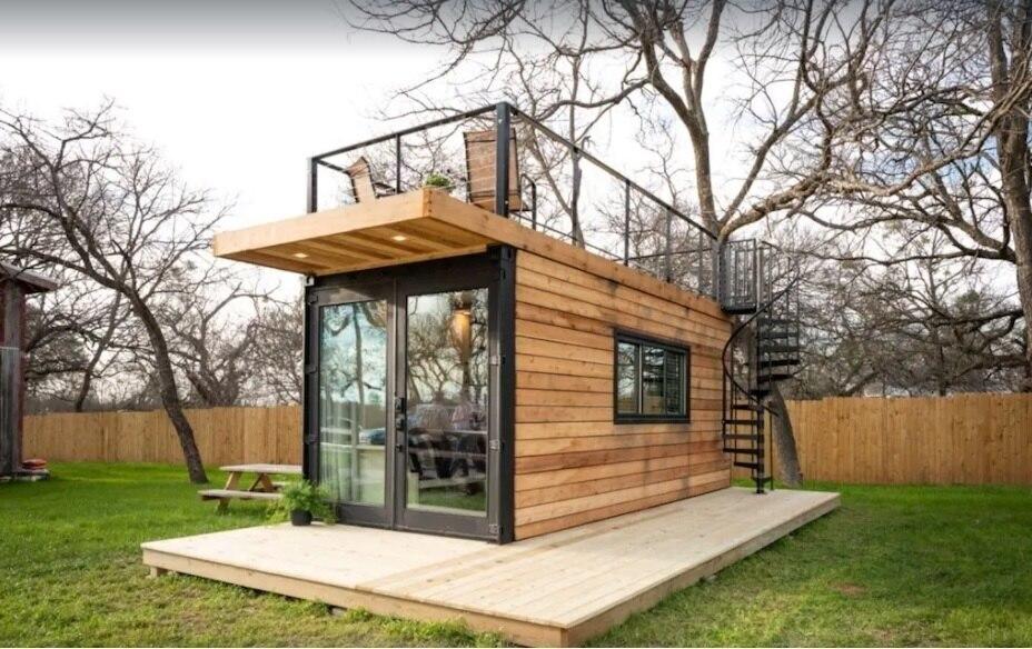 Tiny Cargo home in Waco Texas