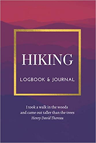 women's logbook for hiking