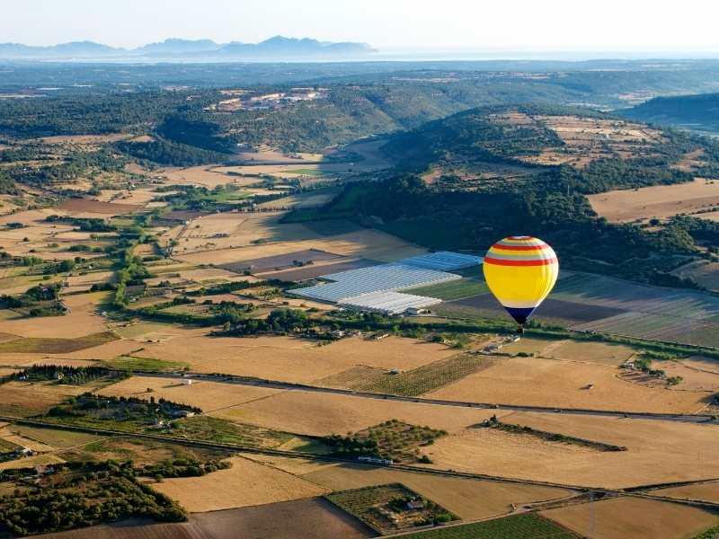go for a hot air balloon ride for gorgeous views over Mallorca