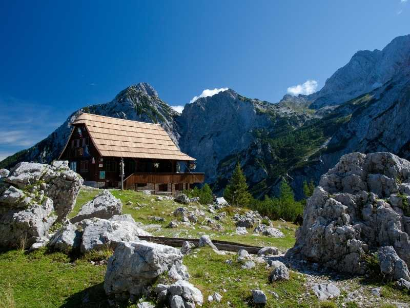 mountain hut in Slovenia