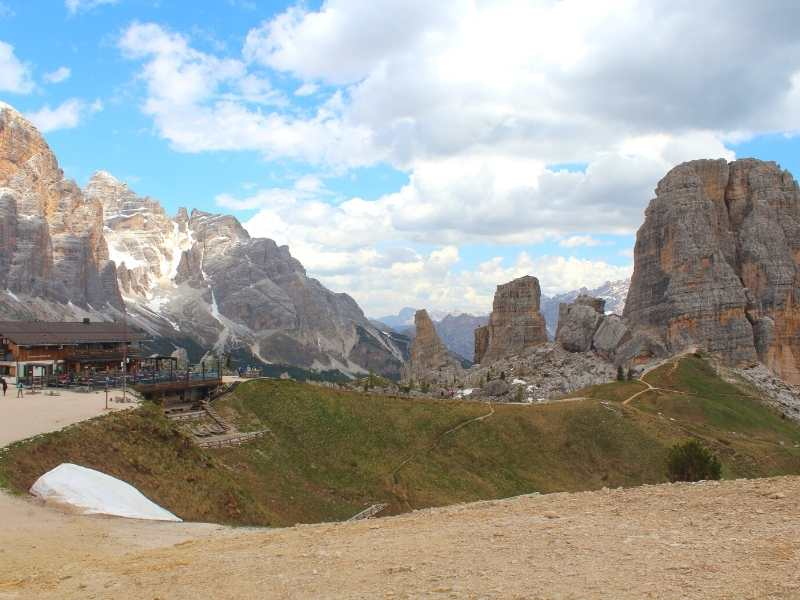 Hut on the Alta Via 1 South in the Dolomites, Italy