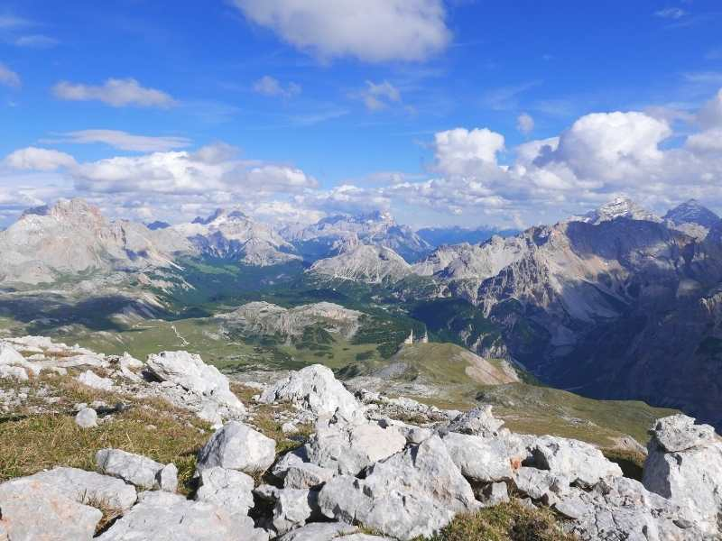 You get stunning views of the Dolomites on your Alta Via 1 Hiking Tour in Italy