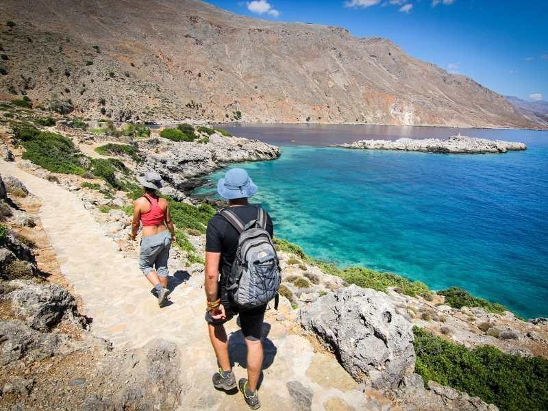 Coastal hiking path in Crete