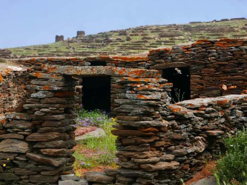Exploring ruins in Tinos