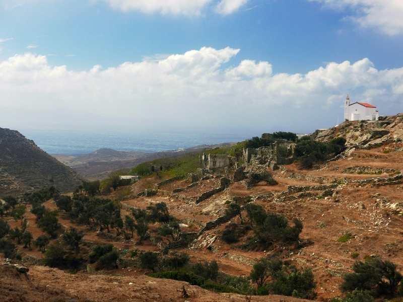 Orthodox Church and ancient ruins near Falatados