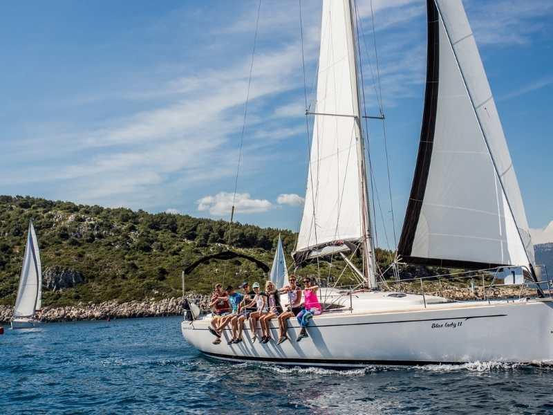 sail from Hvar to Vis on Croatia adventure tour