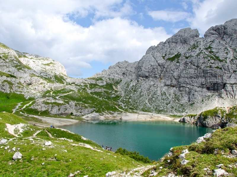 Day 7_ Cool off at Lake Coldai which you'll pass when hiking the Alta Via 1