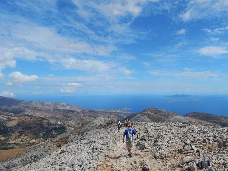 Hiking Trails in Mount Zas in Naxos