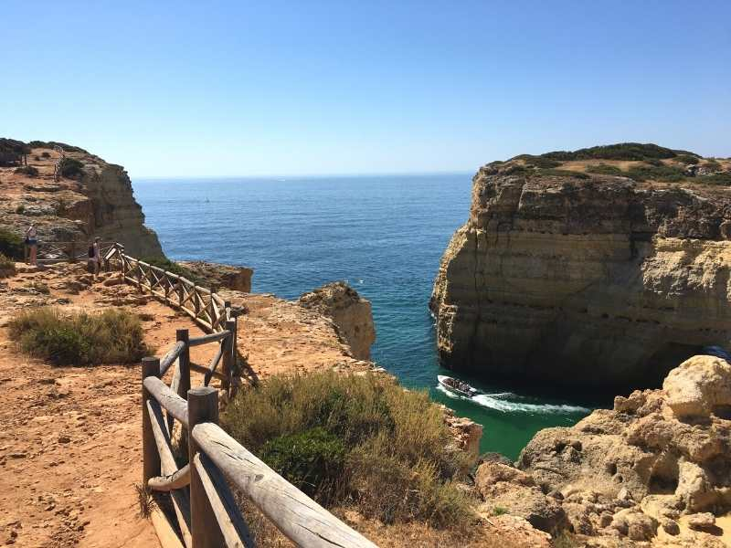 you'll get stunning ocean views while hiking in the Algarve on the Trail of Headlands