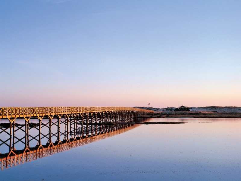 you'll walk across the longest pedestrian bridge in Europe on day 5 of your Algarve tour