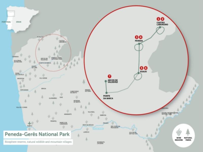Peneda-Geres National Park Self Guided Hiking Tour Map
