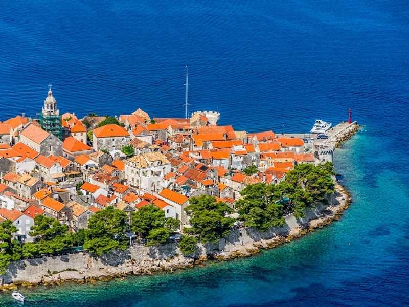 Korcula self-guided hiking tour in Croatia