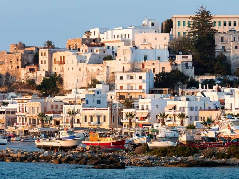 Exploring Naxos during the hiking tour in the Cyclades Islands in Greece