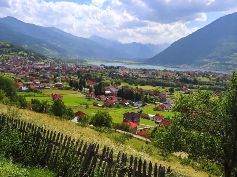 You'll stay in the village of Plav in Montenegro on your Via Dinarica Hiking Tour