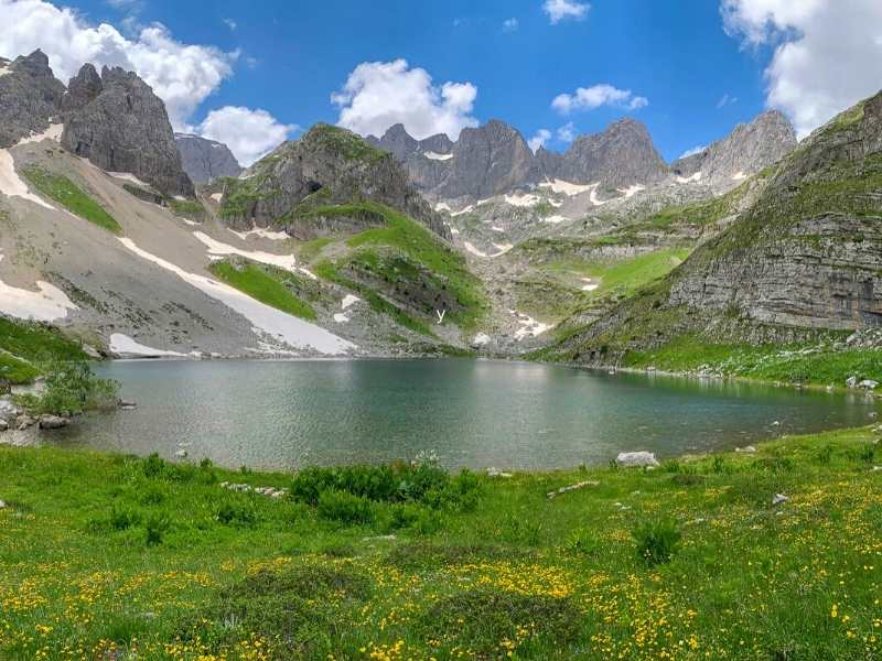 Jezerca Peak in Albania is the highest peak in the Dinaric Alps and a higlight of your Via Dinarica HIking Tour