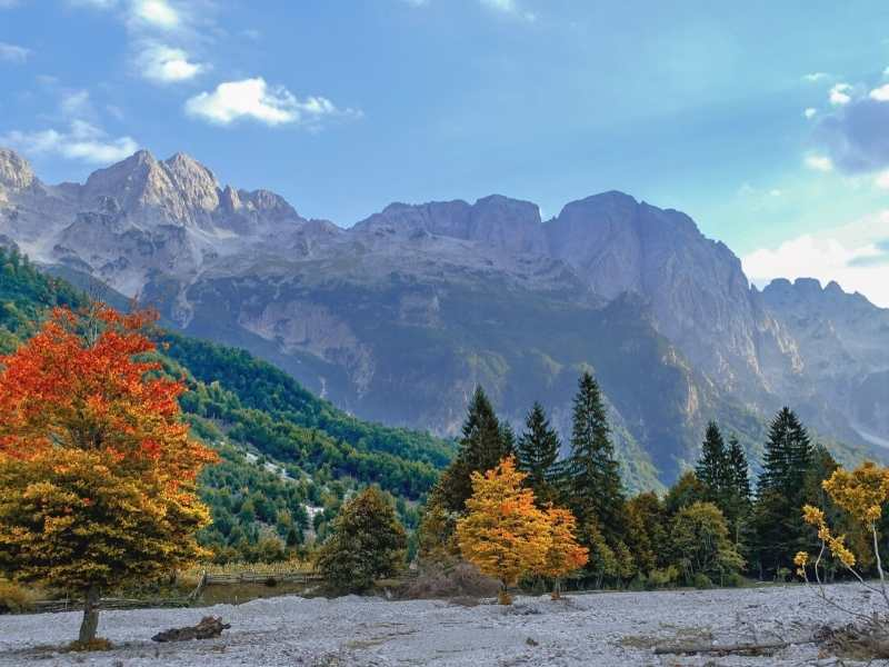 Valbona Valley National Park is located in the Albanian Alps and is a higlight on your Via Dinarica Hiking Tour