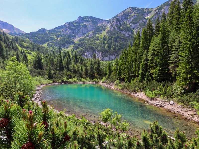 Kuqishte Lake in Kosovo is on the Via Dinarica Trail