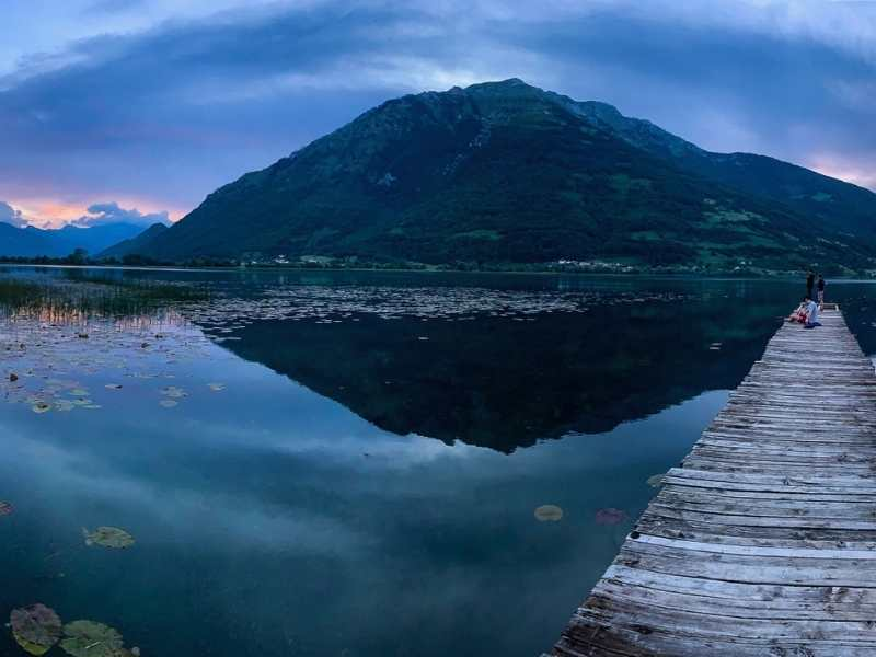 Lake Plav in Montenegro