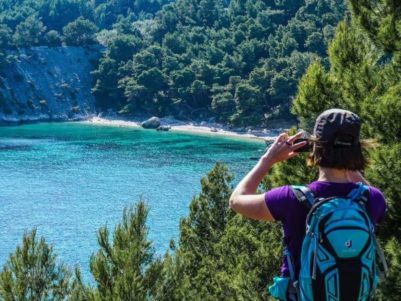 Hiker self-guided hiking tour in Croatia
