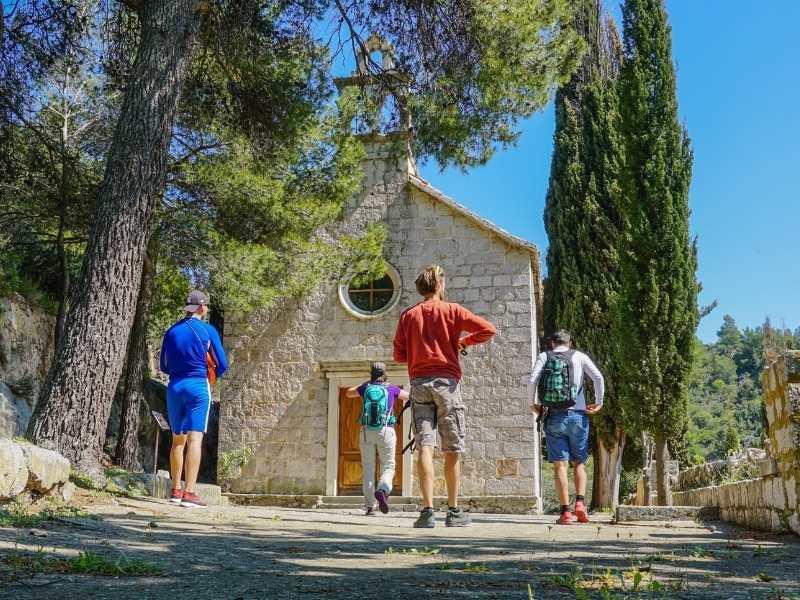 Mountain church self-guided hiking tour in Croatia