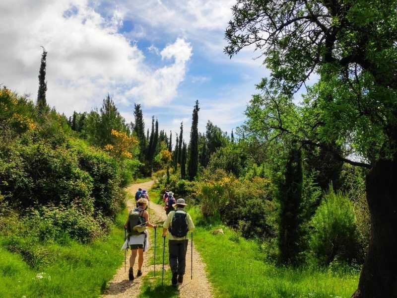 Hikers hiking tour in Croatia
