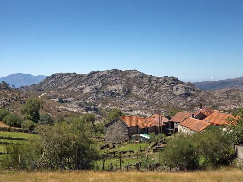Rocky outcrop in Geres makes for interesting hiking, Norther Portugal