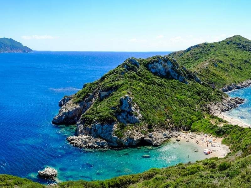 Corfu offers excellent hiking in Greece