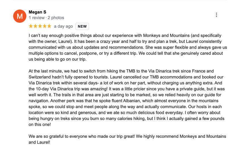 Review of Via Dinarica Hiking Tour
