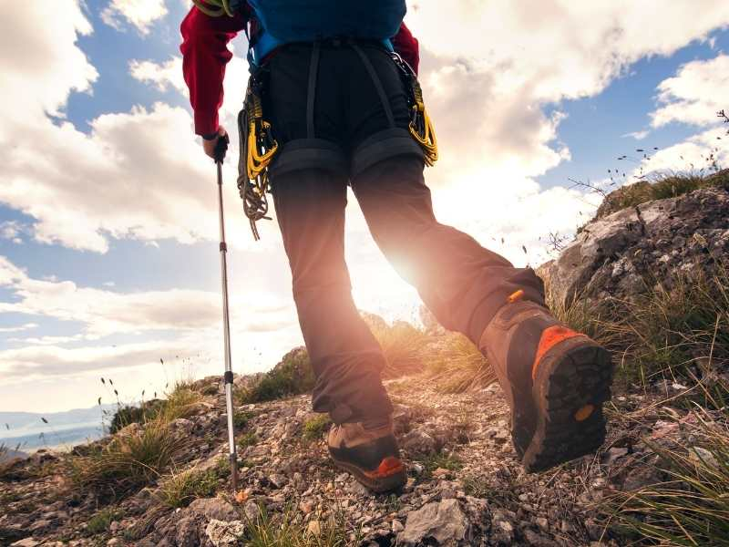 Keep a steady pace while hiking