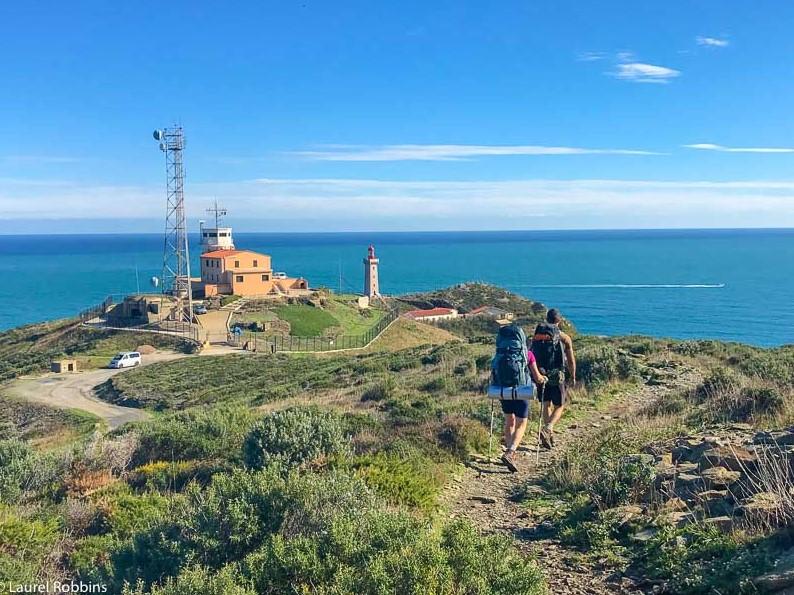 hikers doing a coastal hike in Costa Brava