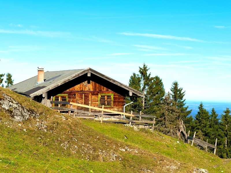 Mountain Hut in the Bavarian Alps