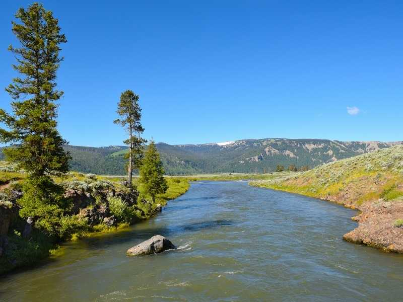The hike to Lamar River is one of the best in Yellowstone National Park