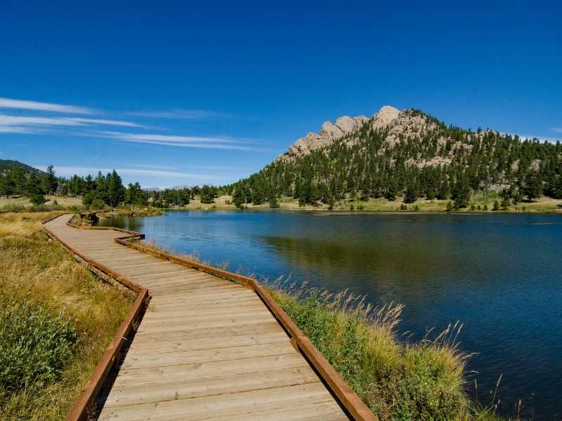 Lily Lake Trail is a perfect easy hike in Rocky Mountain National Park and is stroller and wheelchair suitable.