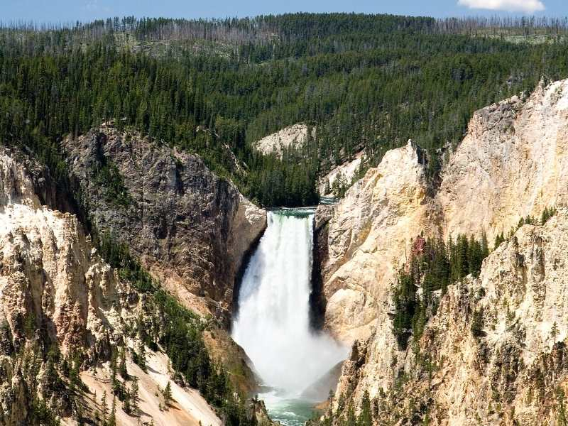 Yellowstone Falls from Inspiration Point